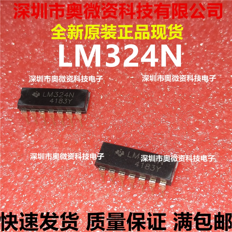 Stokta 100% orijinal yeni LM324 LM324N LM324P DIP-14