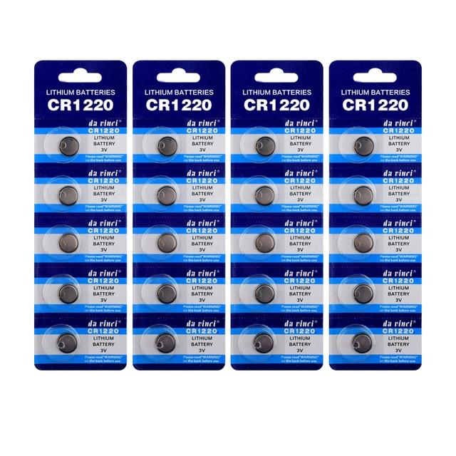 Литиевые Батарейки для игрушек, 50 шт., 1,55 в, DL1220 BR1220 LM1220 CR 1220