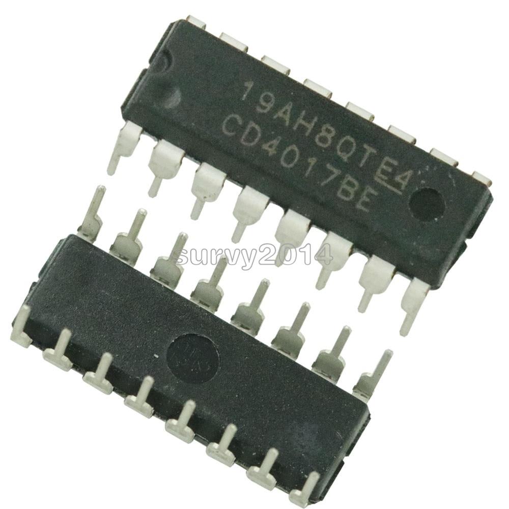 5pcs/lot CD4017 CD4017B CD4017BE 4017 DECADE COUNTER DIVIDER IC new original