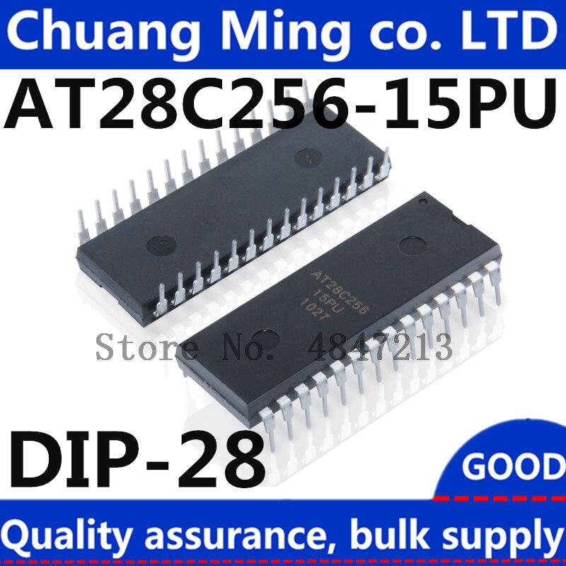 Envío Gratis, 5 unidades/lote, AT28C256-15PU, AT28C256-12PC 28C256 AT28C256 DIP-28, en Stock