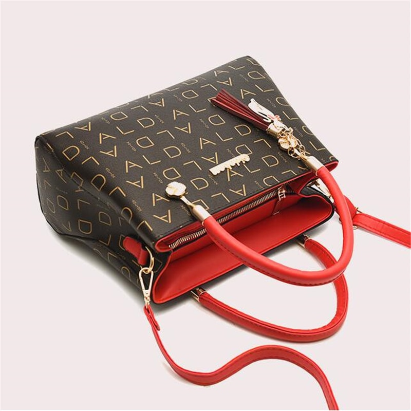 Artificial leather Women's Bags Luxury Shoulder Messenger Bag Crossbody For Women big capacity lette