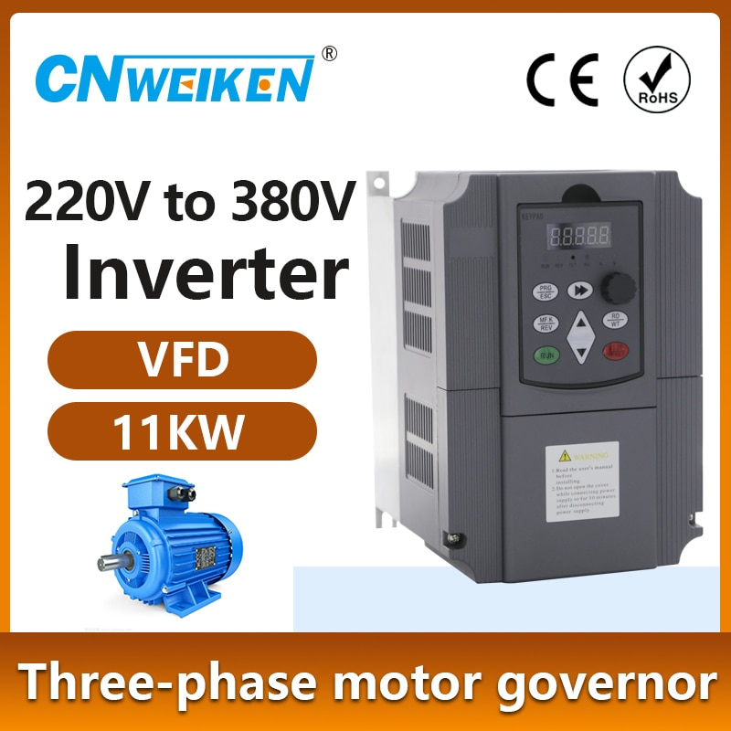 VFD 220 فولت إلى 380 4kw-11kw التيار المتناوب محول تردد متغير 3 المرحلة محول منظم السرعة موتور VFD العاكس