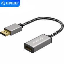 Адаптер для монитора компьютера ORICO, 4K, 1080P, 30 Гц, DP HDMI, штекер гнездо, VGA, Mini, DP, 2 порта, HD, двойной экран