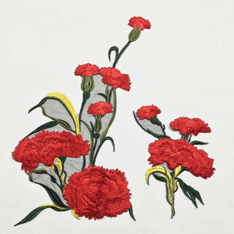 Apliques de flores de Bordado delicado para coser en vestidos de parches artesanales, accesorios de ropa, accesorios de costura con aguja perforada