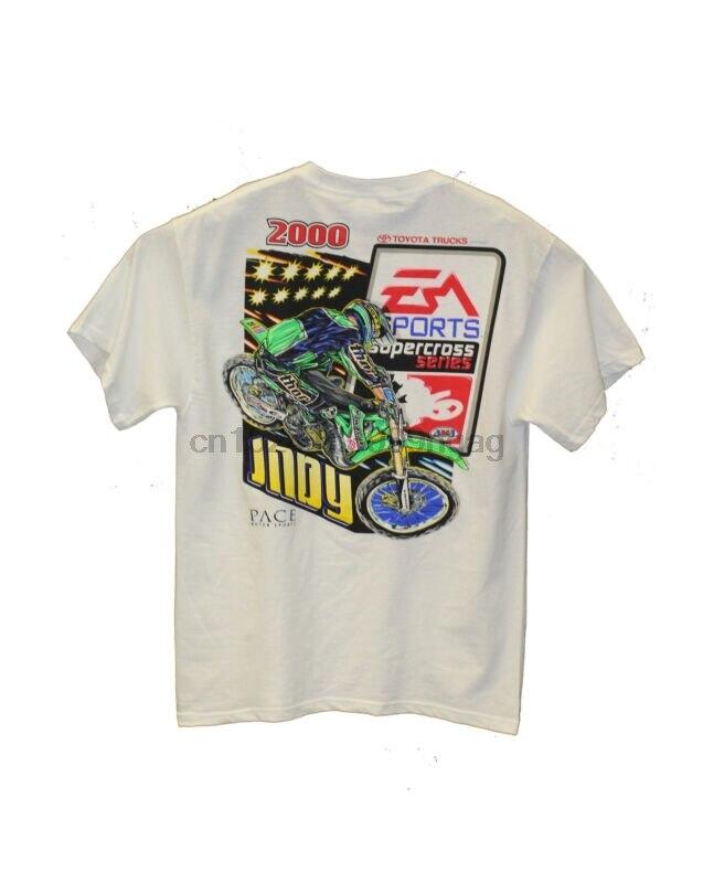 Vintage 2000 ea sports supercross série camiseta branca-novo