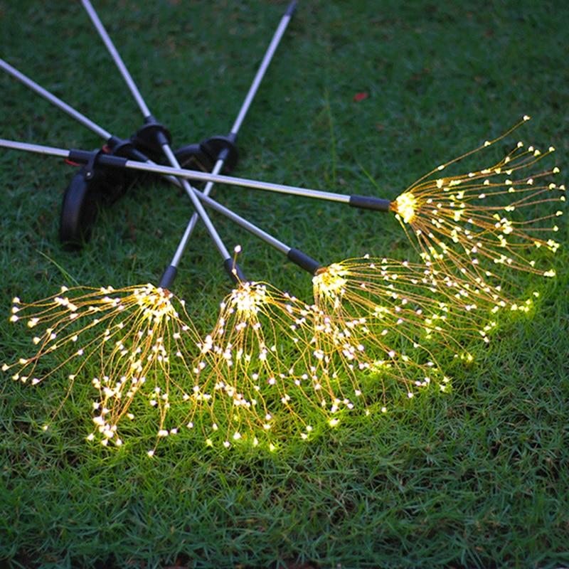 LED Solar Firework Lights Outdoor Waterproof Fairy Garland 90/150 LEDs Light String Garden Lawn Street Christmas Decoration enlarge
