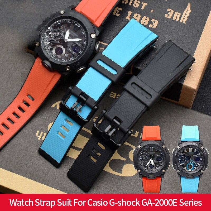 Correa de reloj de silicona de alta calidad para Casio G-shock GA-2000E banda de reloj deportivo para Casio G- shock GA-2000 reloj