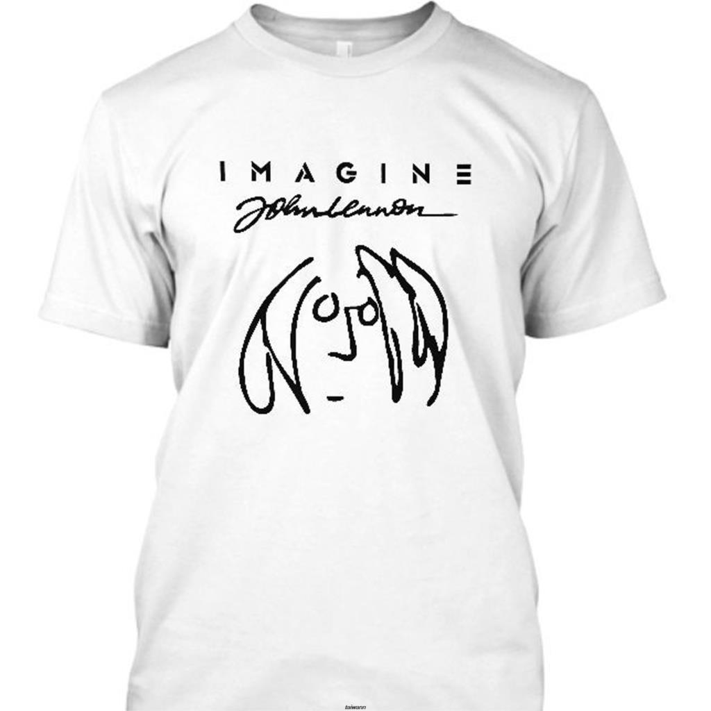 Nuevo Imagine John Lennon Camiseta de manga corta para hombre talla S 5Xl para hombres camiseta novedad cuello redondo