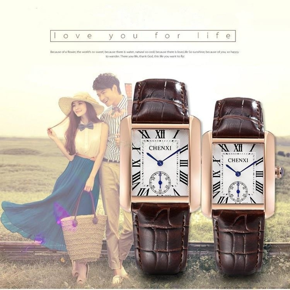bewell men wooden watch fashionable waterproof quartz wrist watch ornament valentine s day gift with gift box High Quality CHENXI Lovers' Couples Quartz Classic Men Valentine Gift Clock Watches with Leather Unisex 30m Waterproof Watch