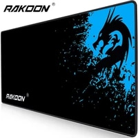 rakoon extended gaming mouse pad stitched edges computer keyboard mousepad non slip water resistant rubber base mouse mat