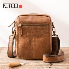 AETOO Top vente mode classique solide célèbre marque affaires hommes mallette en cuir véritable bureau sac décontracté homme sacs à bandoulière