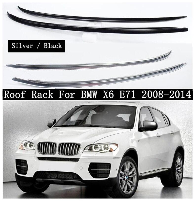 Cremalheira do telhado de alta qualidade para bmw x6 e71 2008-2014 liga de alumínio trilhos barra de bagagem barras de suporte de barra superior cremalheiras caixas de trilho