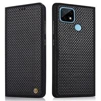 genuine leather flip case for realme c21 c11 c15 cover magnetic case forrealme c21 cases leather cover phone fundas