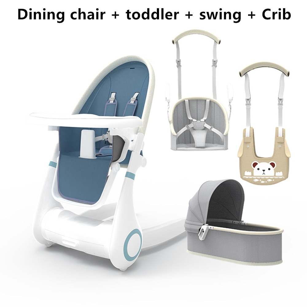 Multifunctional Baby Dining Chair 4 in 1 Feeding Eat Dining Seat Foldable Baby High Chair for Feeding With Tray