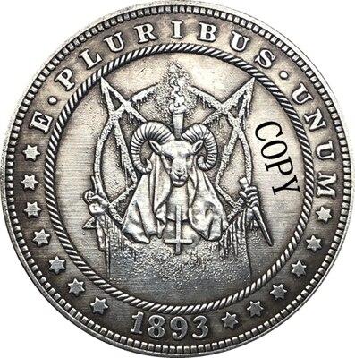 Hobo Nickel 1893-S USA Morgan Dollar COIN COPY Type 158