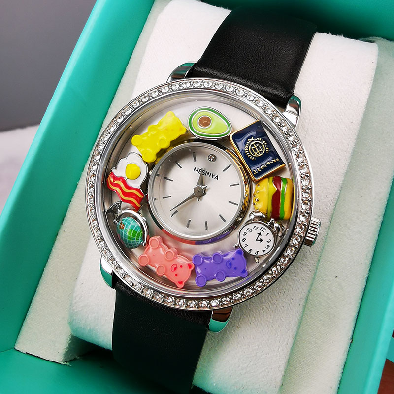 1 Piece Living locket Watch for Floating Charms With Clear Crystal Accent enlarge