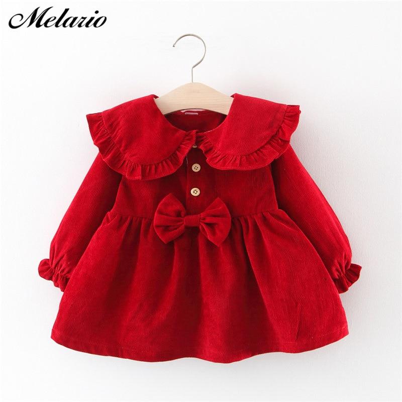 Melario Baby Girl Dress Long Sleeve Spring Winter Dress 1 Year Birthday Princess Dresses Toddler Girls Christmas Clothes Vestido