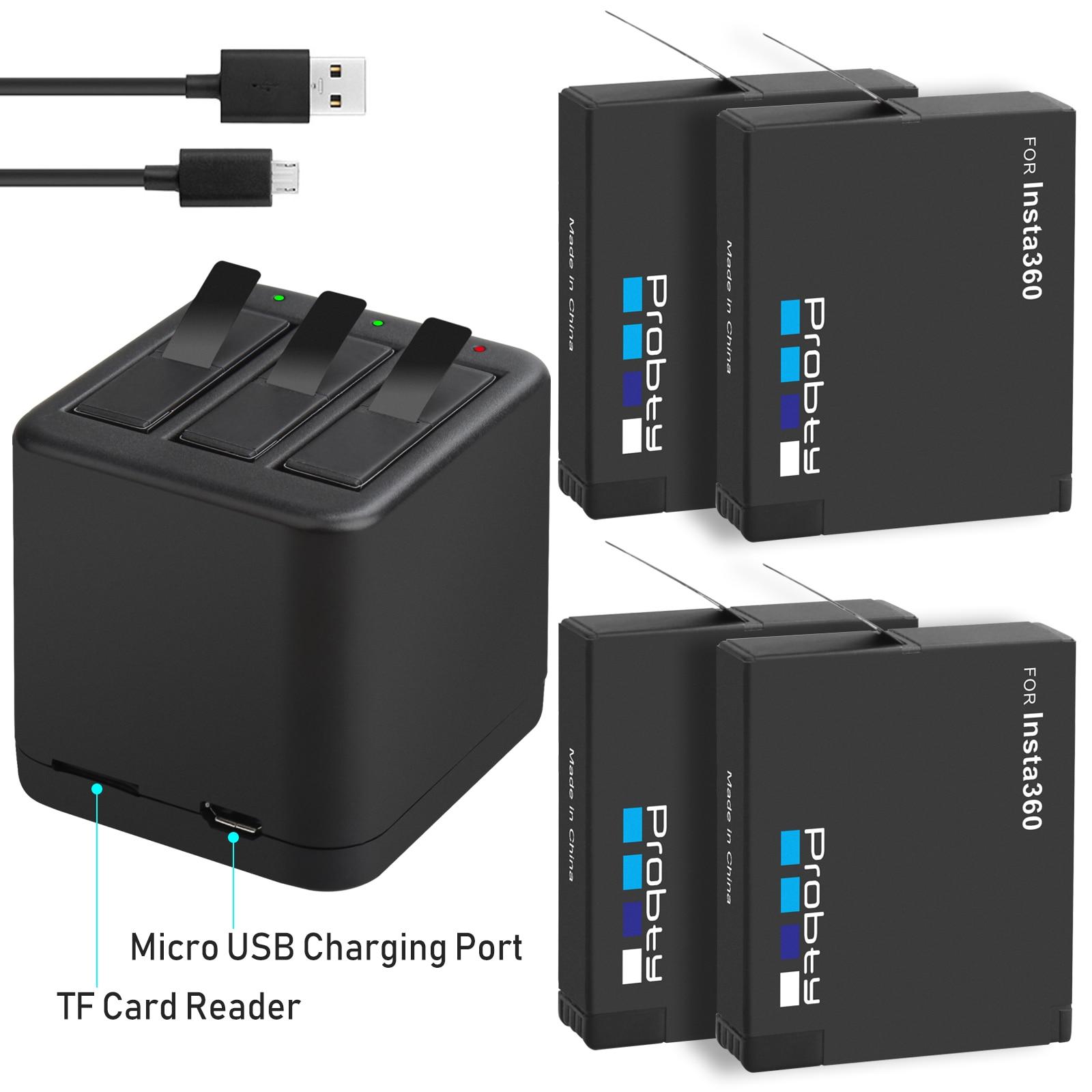 1400mAh Insta360 una X batería y cargador de batería Micro USB soporte de lectura y escritura tarjeta TF al mismo tiempo