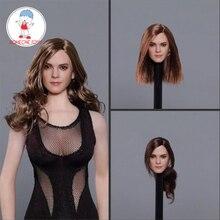 1/6 échelle Emma Watson tête sculpter Hollywood Star Hermione européenne fille tête pour 12