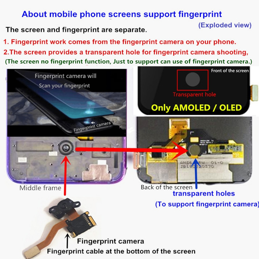 """6.39"""" For Xiaomi Mi 9 Mi9 LCD Display AMOLED  LCD for xiaomi 9 LCD Display Touch Screen Digitizer Assembly with frame enlarge"""