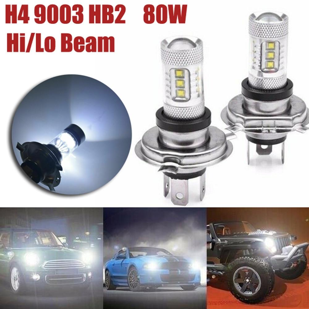 100W LED Headlight Super bright 20-SMD XB-D 1800LM DC 12V-24V Tail lights Lamp Car