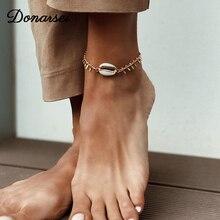 Donarsei 2019 New Fashion Sea Shell Anklet For Women Summer Beach Tassel Ankle Bracelet On The Leg Foot Jewelry