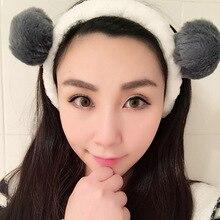 Korean Face Wash Headband Rabbit Cat Ears Flannel Headband Headwear Sweet Makeup Female Facemask Pre