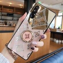 Для Apple iphone 11 чехол роскошный Алмазный с кольцом подставка Золотой защитный чехол для iphone 11 Pro Max iphone 11 11Pro