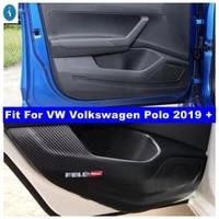 interior refit inner door scratchproof anti kick pad film protective stickers cover trim for vw volkswagen polo 2019 2020 2021