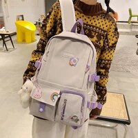 new ins casual schoolbag korean version customized large capacity backpack trendy female backpack waterproof