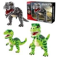 Jurassic World 2 Building Blocks Legoings Dinosaurs Figures Bricks Duplos Tyrannosaurus Rex Park Indominus Assemble Kids Toys