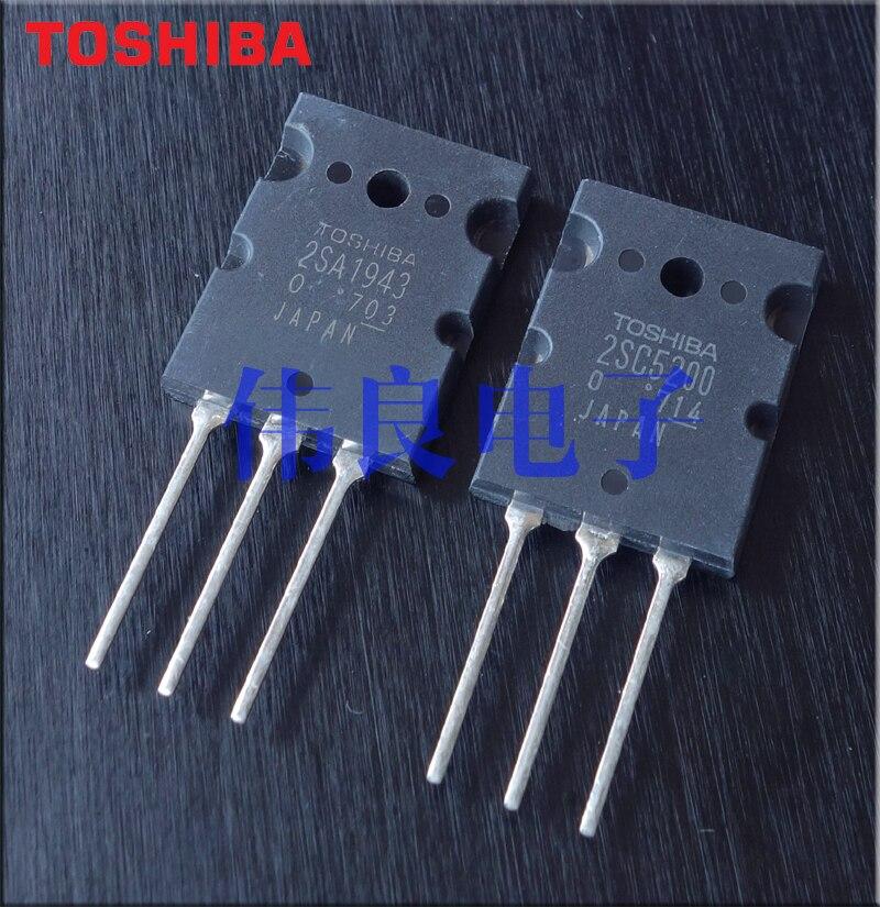 10 زوج A1943 C5200 جديد الأصلي اليابان توشيبا 2sa1943 2sc5200 TO-3PL حمى الصوت عالية الطاقة الناتج أنبوب 15A/230V/150W