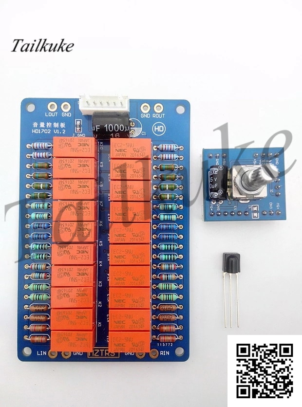 Potenciômetro de volume controle remoto relé placa controle de volume inteligente febre alta fidelidade ding condutor plástico alps27 tipo