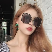oversized sunglasses women brand designer metal square eyewear 2020 new female shades big mirror sun glasses superstar oculos