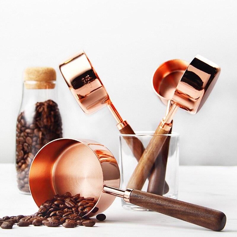 الفولاذ المقاوم للصدأ طقم ملاعق القياس ارتفع الذهب قياس الكؤوس ل اكسسوارات المطبخ الخبز الشاي القهوة ملعقة قياس أدوات