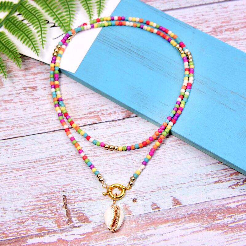 MOON GIRL, длинное ожерелье с подвеской в виде большой раковины, богемное модное шикарное эффектное богемное вечернее ожерелье для девочек, Прямая поставка
