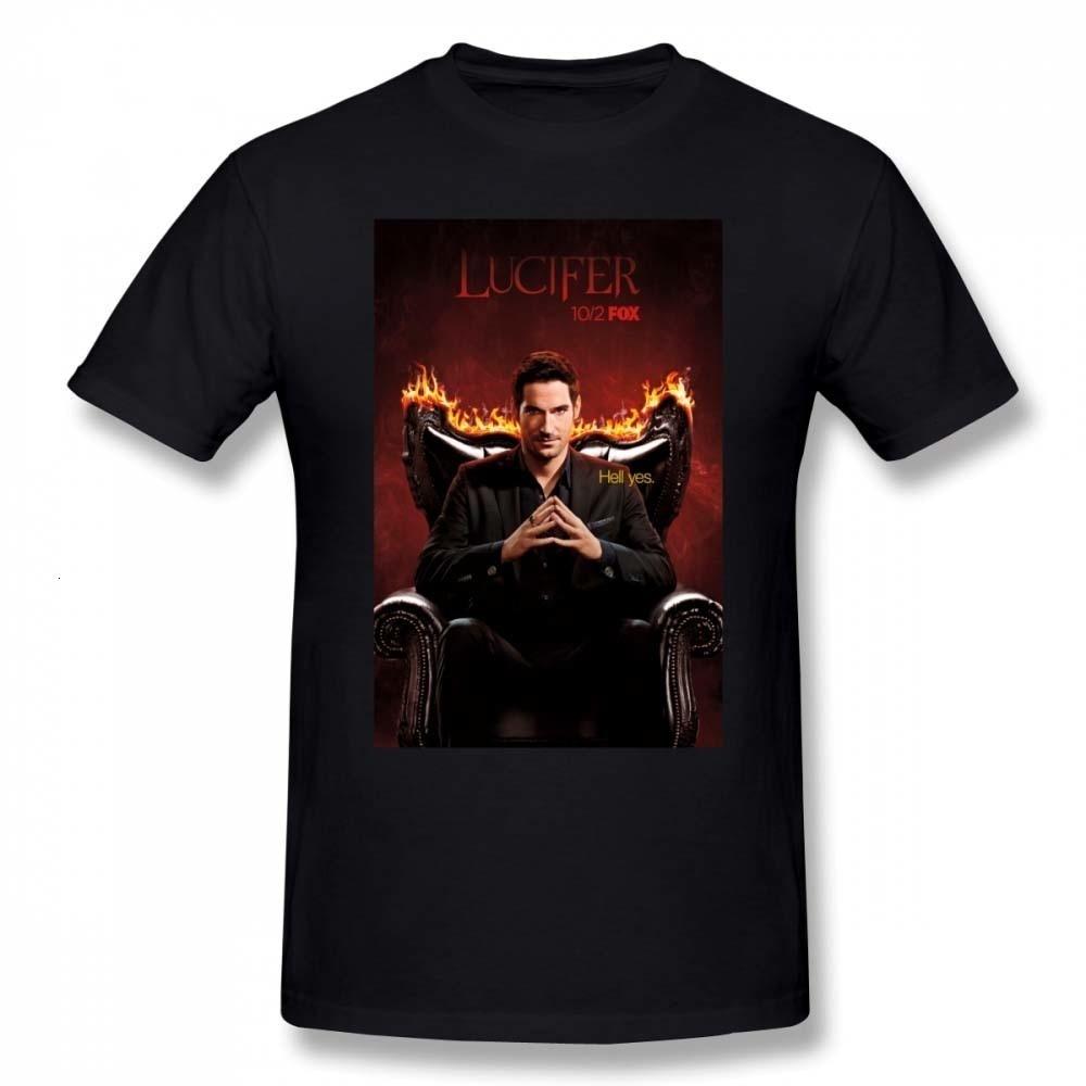 HKFZ Lucifer camiseta Lucifer Morningstar camiseta gráfica impresionante Camiseta de manga corta 4xl 100 algodón Hombre Camiseta básica