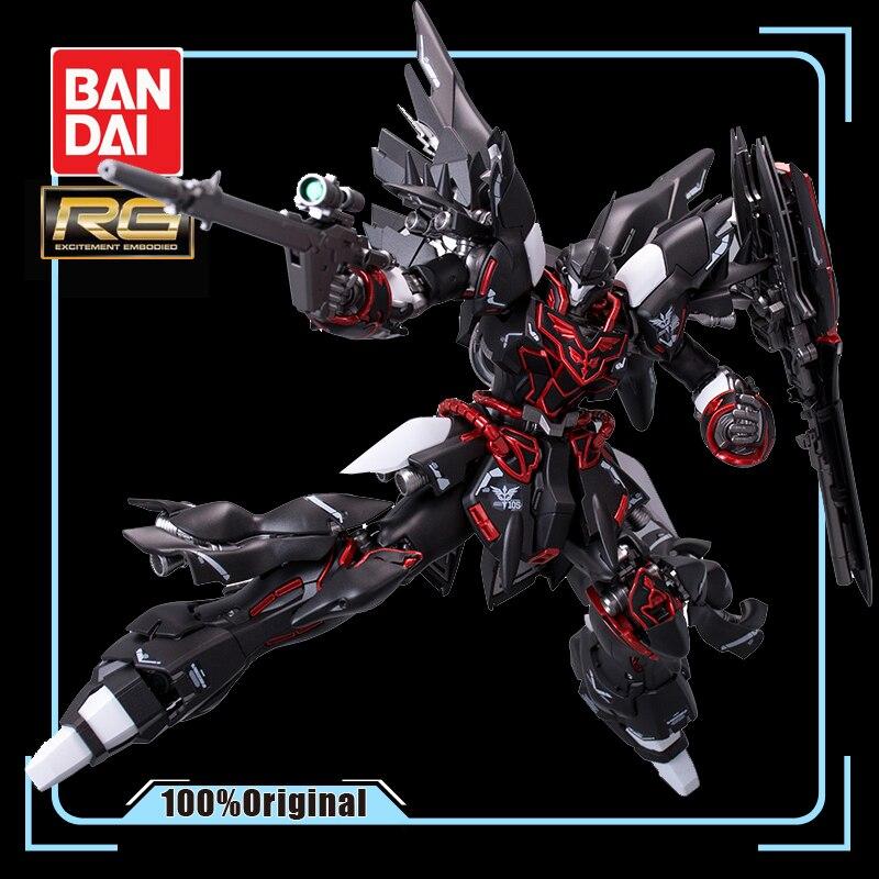 BANDAI RG 1/144 MSN-06S sinanjou GUNDAM negro Phantom Metal para colorear figuras de juguete hasta la asamblea modelo niño regalo favorito
