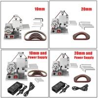 110 240v electric belt sander polishing grinding machine knife edges sharpener woodworking metal grinder and 10pcs abrasive belt