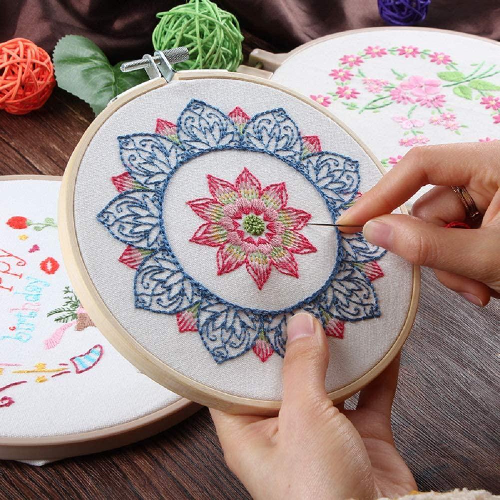 DIY impreso, tela bordada, tablero de hilo, aguja de bordado, dibujo de alta definición, sin aro de bordado