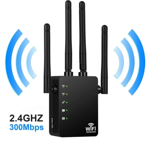 Wireless Router's Wifi Repeater Dual-Band 2.4 4Antenna Wi-Fi Range Extender Signal Home Network Supplies