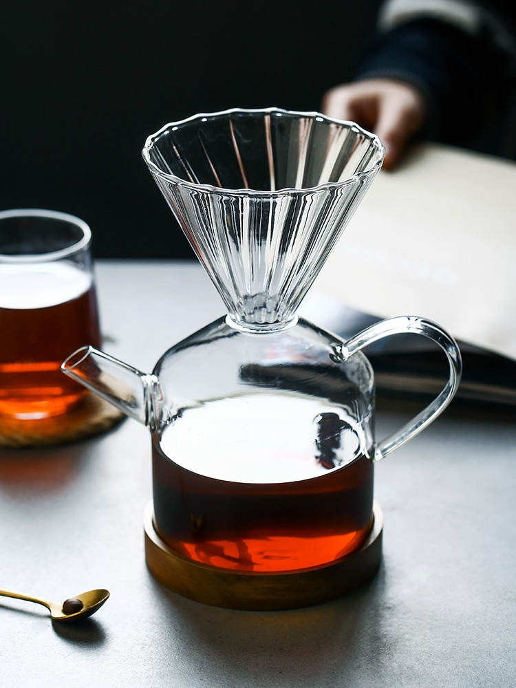 زجاج السفر موكا اسبريسو إبريق قهوة كبيرة المحمولة الشاي الفرنسية الصحافة تركيا صانع القهوة دليل القهوة Percolator 2020 II50KFH