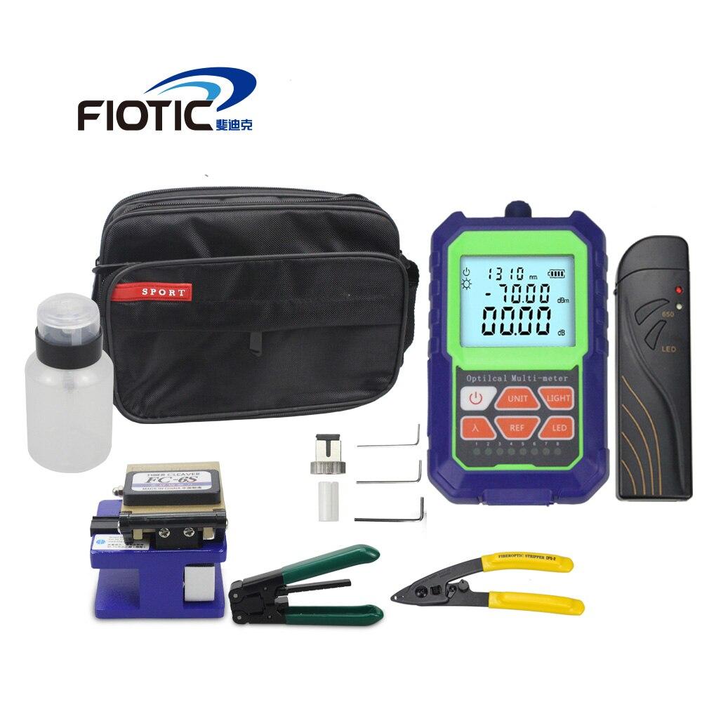مجموعة أدوات الألياف البصرية FTTH FC6S ، مقياس الطاقة الضوئية الصغير ، محدد الخطأ البصري ، 5 ميجا واط ، 15 ميجا واط ، متجرد الأسلاك ، المشبك