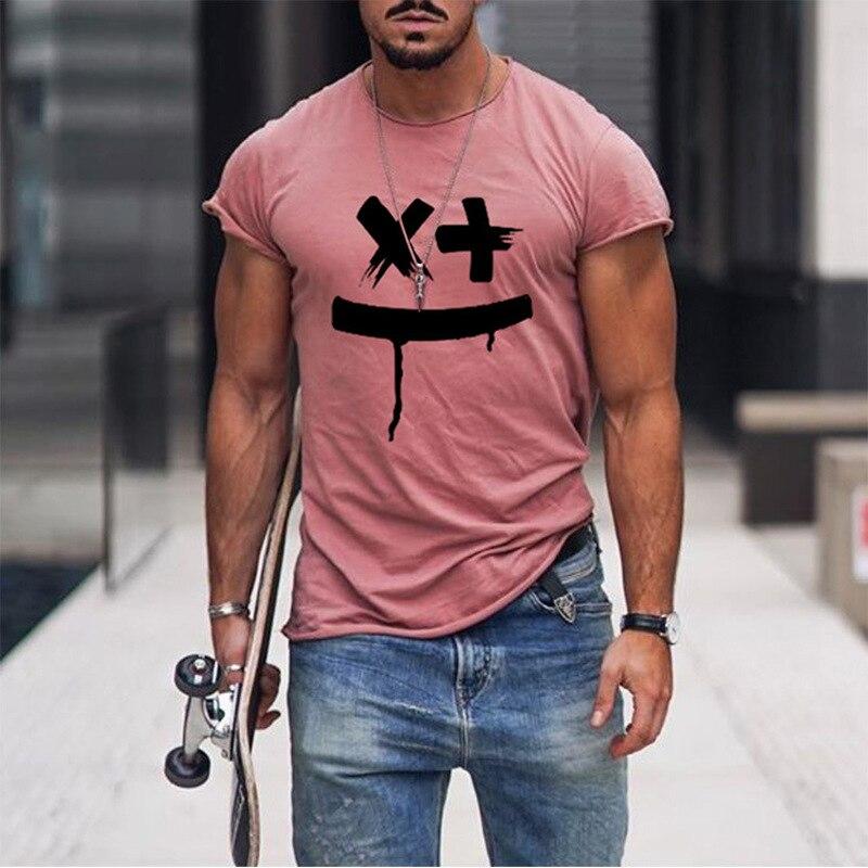 Футболка мужская футболка с изображением подсолнуха Harajuku, мужская летняя популярная уличная одежда, повседневная свободная футболка с над...