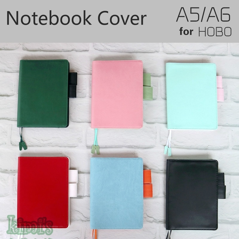 A6 A5 Notebook Cover for Hobo Midori Planner Diary Book Leather Specifications Covers Japanese Style Icecream Color School