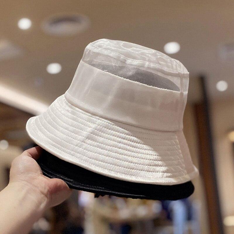 MAXSITI U remiendo de la gasa de atin terminar cubo sombrero de mujer de verano transpirable pescador de cuenca tapa