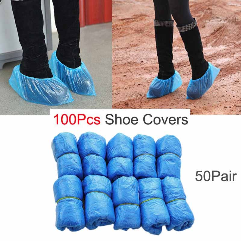 100Pcs Shoe Covers + Automatic Shoe Covers Machine, Shoe Covers Dispenser for Preventing Dusty, Suit for Home,Shop enlarge