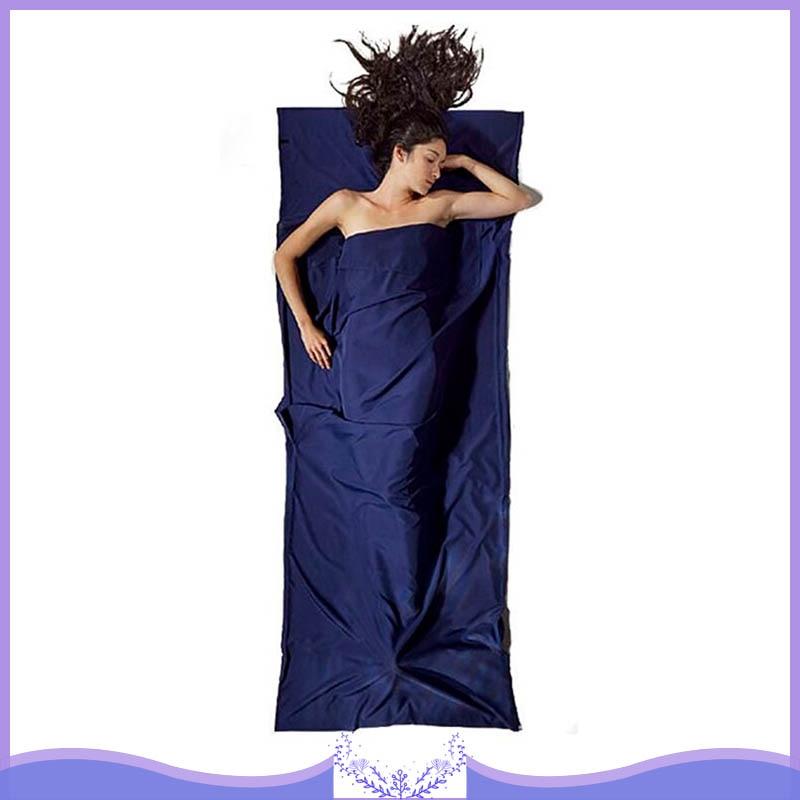 115*210 см, Одноцветный спальный мешок для путешествий, подкладка, прочная Подушка, карманы, портативный легкий комплект простыней для сна, кемпинг, туризм