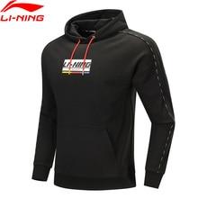 Li-Ning Men The Trend Hoodie 100% Cotton Loose Fit Sweater Hit-Color Printing Comfort li ning LiNing Sports Tops AWDP409 MWW1598
