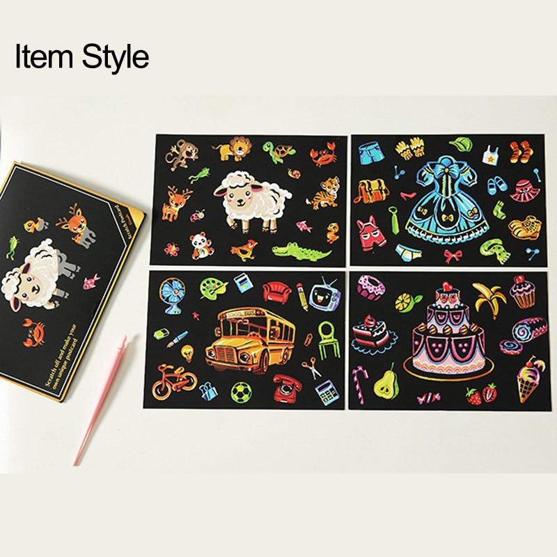Детские игрушки «сделай сам», магические царапины, рисование милыми животными, искусство и ремесло, рисование бумаги, забавные игрушки для ...
